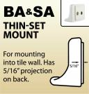BA & SA - Thin-Set Mount