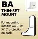 BA - Thin-Set Mount
