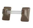 Towel Brackets with Clear Bar