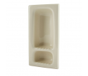 Recessed Shampoo and Soap Holder